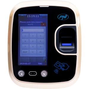 Sistem de pontaj biometric PNI Face 600, amprenta, recunoastere faciala, card, negru