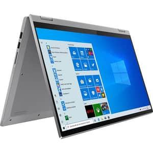 "Laptop 2 in 1 LENOVO IdeaPad Flex 5 15IIL05, Intel Core i5-1035G1 pana la 3.6GHz, 15.6"" Full HD Touch, 8GB, SSD 512GB, Intel UHD Graphics, Windows 10 Home, gri"