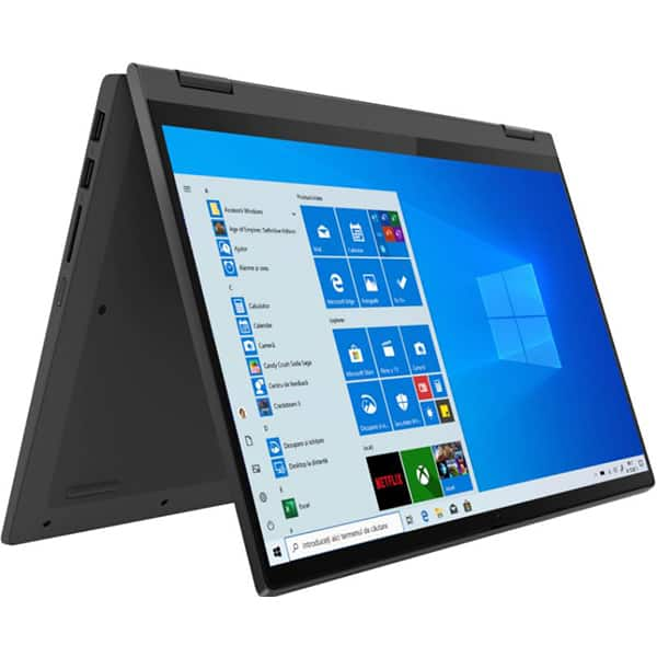 "Laptop 2 in 1 LENOVO IdeaPad Flex 5 14IIL05, Intel Core i7-1065G7 pana la 3.9GHz, 14"" Full HD, 16GB, SSD 512GB, Intel Iris Plus Graphics, Windows 10 Pro, gri"