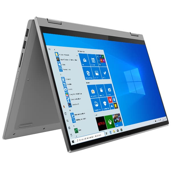 "Laptop 2 in 1 LENOVO IdeaPad Flex 5 14IIL05, Intel Core i7-1065G7 pana la 3.9GHz, 14"" Full HD, 8GB, SSD 512GB, Intel Iris Plus Graphics, Windows 10 Home, gri deschis"
