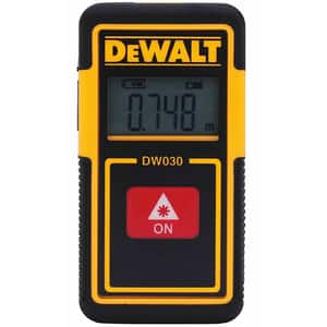 Telemetru digital DEWALT DW030PL, Distanta 9m, negru-galben