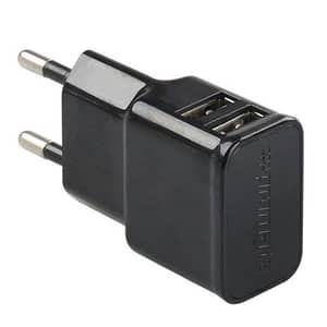 Incarcator de retea PROMATE Hype-EU, 2 x USB, 5V, 2A, negru
