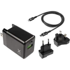 Incarcator retea XTORM Volt XA022U, Type C, USB, Power Delivery, priza EU- UK & US, cablu Type C, negru