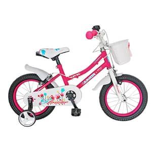 """Bicicleta de copii JUNIOR J1602A, 16"""", roz"""