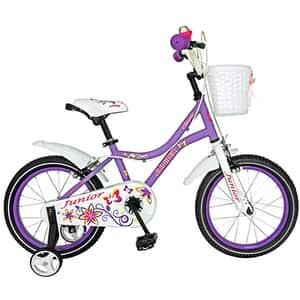 "Bicicleta pentru copii JUNIOR J1602A, 16"", mov"