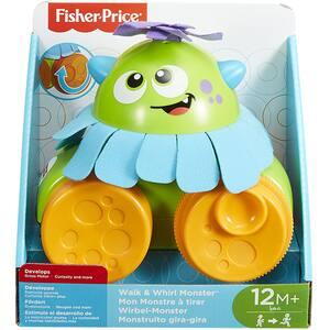 Jucarie de tras FISHER PRICE Micutii monstri MTFHG01, 12 luni+, multicolor
