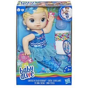 Papusa bebelus BABY ALIVE Pregatita pentru balaceala E3693, 3 ani+, albastru