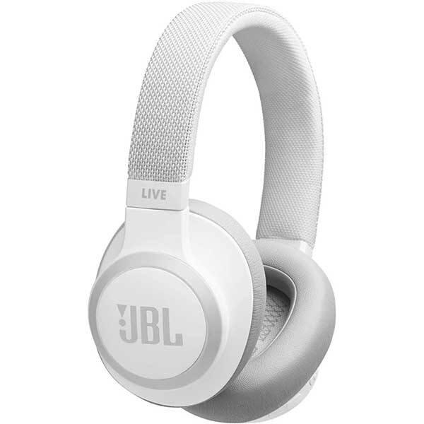 Casti JBL Live 650BTNC, Bluetooth, Over-ear, Microfon, Noise Cancelling, alb
