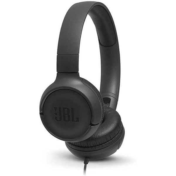 Casti JBL Tune 500, Cu fir, On-ear, Microfon, negru