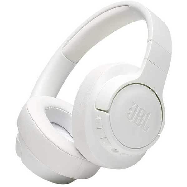 Casti JBL Tune 750BTNC, Bluetooth, Over-ear, Microfon, Noise Cancelling, alb