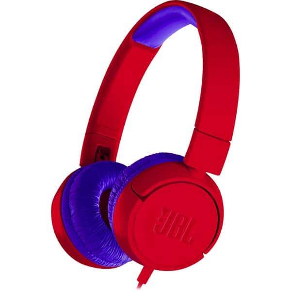 Casti pentru copii JBL JR300, Cu Fir, On-Ear, rosu