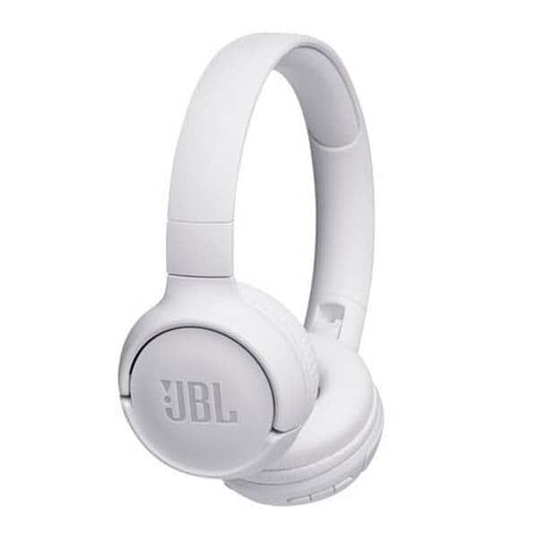 Casti JBL Tune 500BT, Bluetooth, On-ear, Microfon, alb