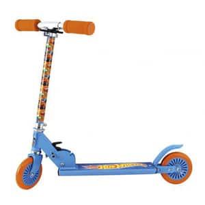 Trotineta reglabila HOT WHEELS 42032J, 4 ani+, 2 roti, 70cm, albastru-portocaliu