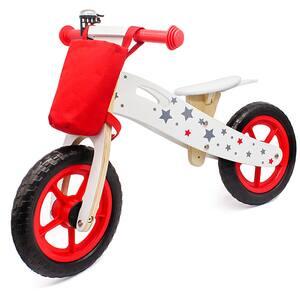 "Bicicleta copii fara pedale STAR RIDE Balance ODV1002, 12"", rosu-alb"