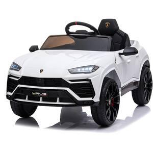 Masinuta electrica cu telecomanda STAR RIDE Lamborghini ODV1014, 3 ani+, alb-negru