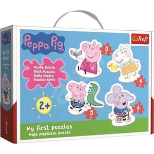 Puzzle 4in1 TREFL Simpatica Peppa Pig 36086, 2 ani+,18 piese