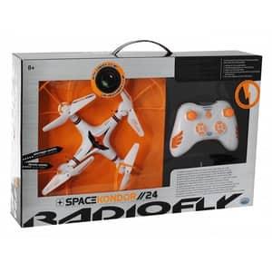 Drona cu radiocomanda RADIOFLY 37998J, 8 ani+, alb-portocaliu