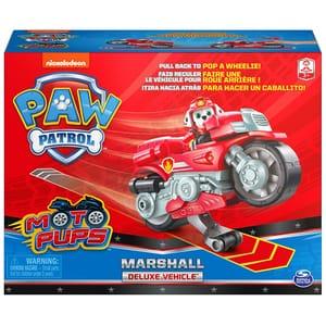 Motocicleta cu figurina Marshall PAW PATROL 6060225, 3 ani+, rosu-gri