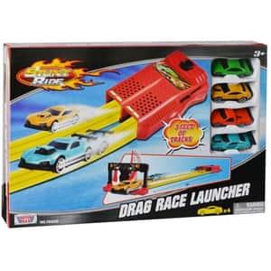 Pista de lansare cu masinute MOTORMAX Drag Race Launcher 78263, 3 ani+, multicolor