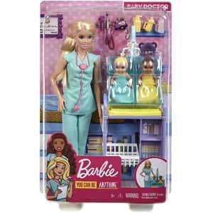 Papusa BARBIE Cariere Doctor pediatru MTGKH23, 3 ani+, multicolor