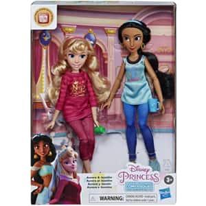 Set papusi DISNEY PRINCESS Aurora Si Jasmin E7356_E7416, 3 ani+, multicolor