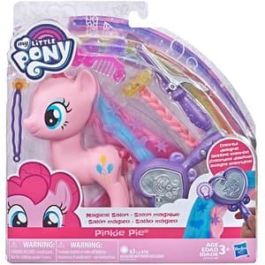 Figurina MY LITTLE PONY Pinkie Pie la salonul de infrumusetare E3489_E3764, 3 ani+, roz-mov