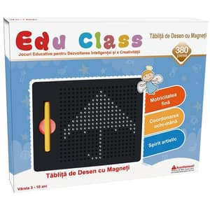 Tabla de desen cu magneti EDU CLASS EDU1380, 3 - 10 ani, 380 piese, negru