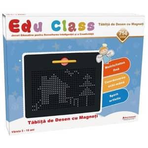 Tabla de desen cu magneti EDU CLASS EDU1714, 3 - 10 ani, 714 piese, negru