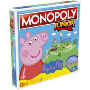 Joc de societate HASBRO Monopoly Junior - Peppa Pig F1656, 5 ani+, 2-4 jucatori