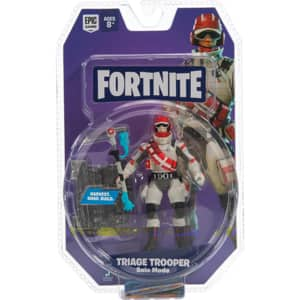 Figurina FORTNITE Triage Trooper FNT0099, 8 ani+, gri-rosu