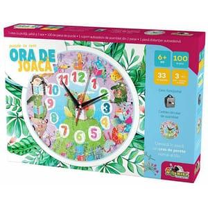 Puzzle cu ceas NORIEL Ora de joaca - Animale INT3176, 6 ani+, 103 piese