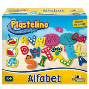 Set PLASTELINO Alfabet din plastilina INT6703, 3 ani+, multicolor