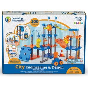 Set STEM LEARNING RESOURCES Construieste oraselul LER2843, 5 - 9 ani, 50 piese