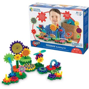 Set de constructie LEARNING RESOURCES Gears Gizmos LER9171, 7 - 11 ani, 83 piese