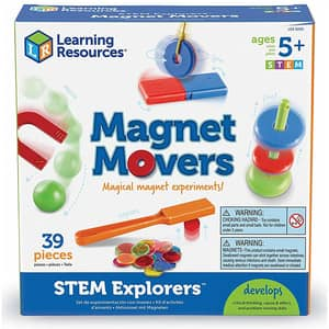 Set STEM LEARNING RESOURCES Magie cu magneti LER9295, 5 - 9 ani, multicolor