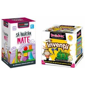 Pachet jocuri educative MEMORACE: Sa invatam mate + Inventii LG0056, 8 ani+, 126 piese