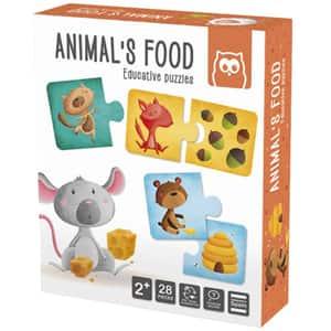 Puzzle EUREKA KIDS Montessori - Animale si hrana lor LG0421, 2 ani+, 28 piese