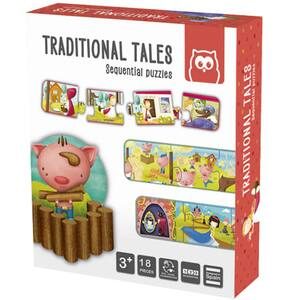 Puzzle EUREKA KIDS Montessori - Povesti traditionale LG0426, 3 ani+, 18 piese