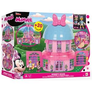 Set 2 figurine DISNEY Casuta lui Minnie Mouse 182592, 3 ani+, roz-mov