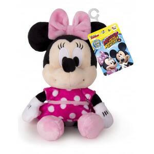 Jucarie de plus DISNEY Minnie Mouse cu sunete 182394, 0 luni+, roz-negru