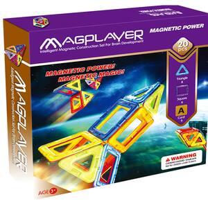 Joc constructie magnetic MAGPLAYER MPA-20, 3 - 10 ani, 20 piese