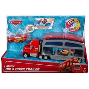 Set CARS Mack Dip & Dunk Trailer Play MTCKD34, 4 ani+, rosu-gri
