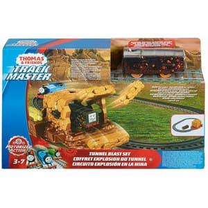 Trenulet MATTEL Thomas&Friends Tunnel Blast MTFJK24, 3 - 7 ani, maro-negru
