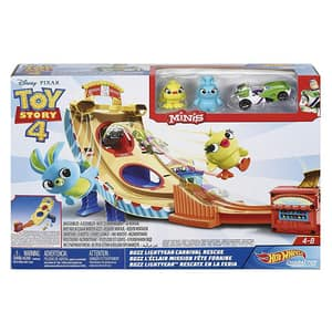 Pista cu masina HOT WHEELS Toy Story Carnaval MTGCP24, 4 - 8 ani, multicolor