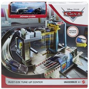 Set CARS Centrul lui Rust-eze MTGJW43, 4 ani+, gri-albastru deschis