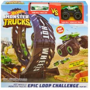 Set masinuta HOT WHEELS Monster Trucks - Provocarea pe pista MTGKY00, 4-8 ani, multicolor