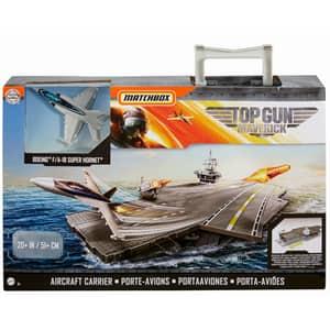 Avion MATCHBOX Top Gun Maverick Portavion MTGNN28, 3 ani+, gri-portocaliu