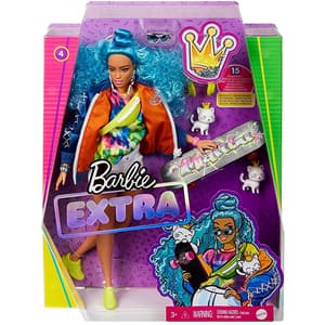 Papusa BARBIE Extra Style - Curly hair MTGRN30, 3 ani+, multicolor