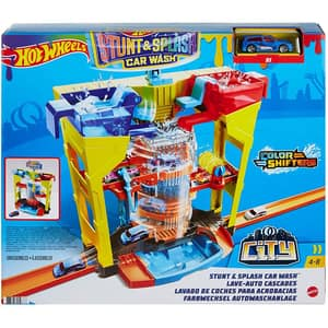 Circuit HOT WHEELS Stunt Splash Car Wash MTGRW37, 4-8 ani, multicolor