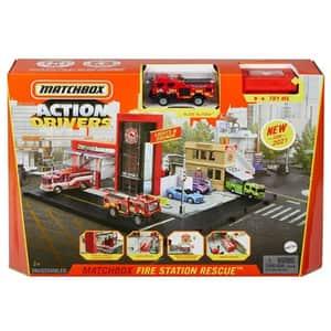 Set MATCHBOX Statie de pompieri MTHBD74, 3 ani+, multicolor